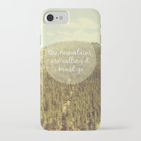 the mountains are calling iPhone & iPod Cases featuring The Mountains are Calling by Jillian Audrey