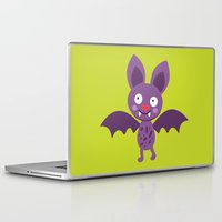 bat Laptop & iPad Skins featuring bat by olillia