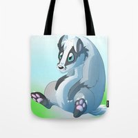 badger Tote Bags featuring Badger badger badger badger  by Razinoats
