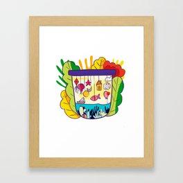 Modern floral pattern Framed Art Print