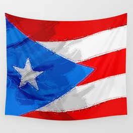 Puerto Rico Fancy Flag Wall Tapestry