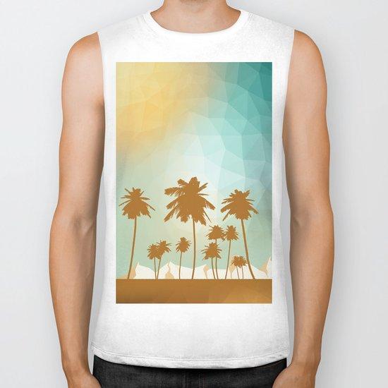 Palms at desert Biker Tank