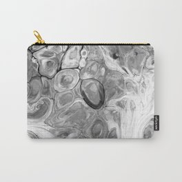 Smooth Abstract (Black and White) Carry-All Pouch