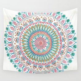 Color on White Wall Tapestry