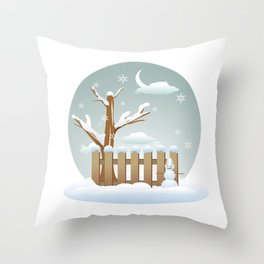 Merry christmas winter  Throw Pillow
