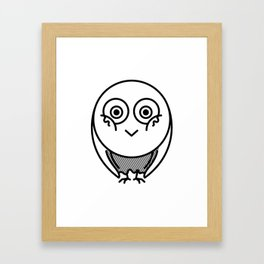Friendly owl wants attention Framed Art Print