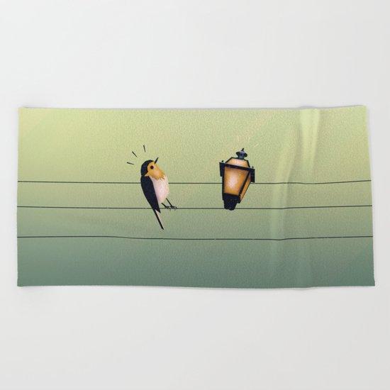 Feeling Wired (Green) Beach Towel
