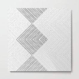 Stripe Geometric Stack Metal Print