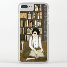 october library Clear iPhone Case