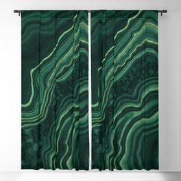 Malachite Texture 05 Blackout Curtain