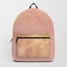 Marbled gold stone with a blush ombre shade decorative design Backpack