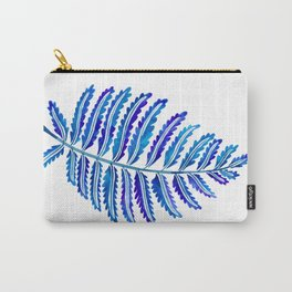 Fern Leaf – Navy Palette Carry-All Pouch