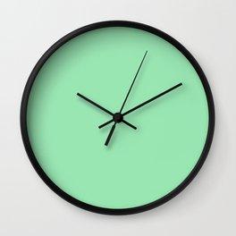 Dear Teal Solid Color Block Wall Clock