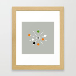 Retro Spoke and Beads - Mid Century Modern Print Framed Art Print