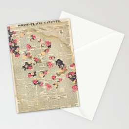 VINTAGE FLOWER COLLAGE Stationery Cards