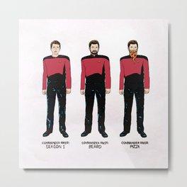 Stages of Riker Metal Print