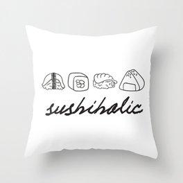 sushiholic Throw Pillow