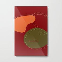 Thankful Autumn Abstract Metal Print