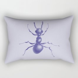 Purple Ant Rectangular Pillow