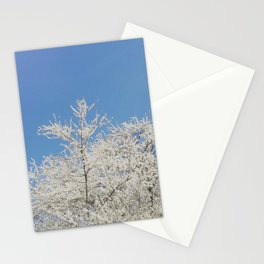 White blossoms in Stuttgart, Germany Stationery Cards