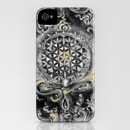 Manipura°^Golden Waves in Snowy Space iPhone Case