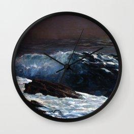 Winslow Homer - Sunlight on the Coast Wall Clock