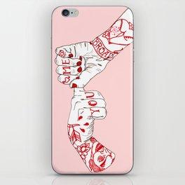 You, Me, Tonight iPhone Skin