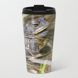 Toad in the pond Metal Travel Mug