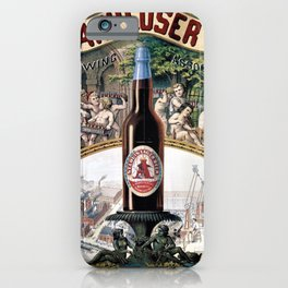 Vintage 1879 St. Louis Anheuser Brewing Lithograph Wall Art iPhone Case
