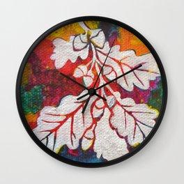 Leaves on the World Tree: Basques Oak Wall Clock