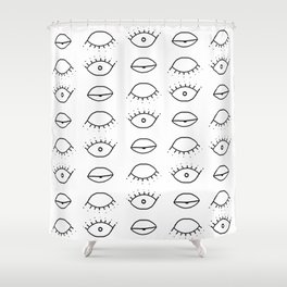 Three eyes pattern Shower Curtain