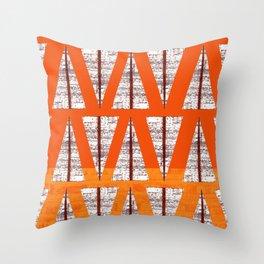 Simone's-orange abstract arrows  Throw Pillow
