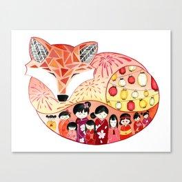 Japanese Summer Fox Canvas Print
