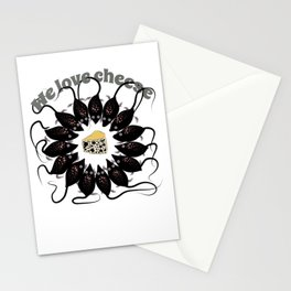 Mouses and cheese. We love cheese. Stationery Cards