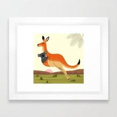 The Kangaroo and The Koala Framed Art Print