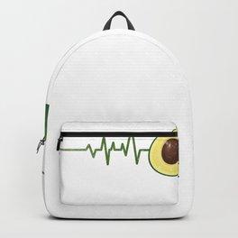 Avocado Heartbeat Avocado Lover Vegatarian Food Veganism Gif Backpack