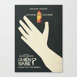 Quién sabe? Movie poster with Klaus Kinski, Gian Maria Volonté, Lou Castel, by Damiano Damiani Canvas Print