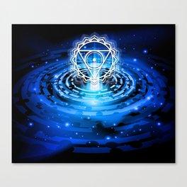 Cosmic Throat Chakra Tapestry Canvas Print