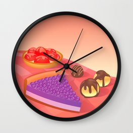 Cream & Berries Wall Clock