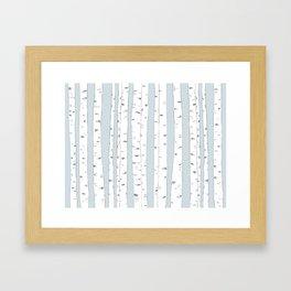 Aspen Forest - Blue Grey Framed Art Print