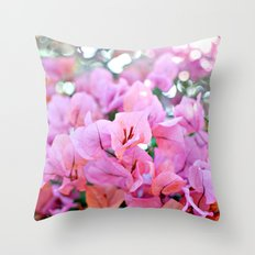Bougainvillea II Throw Pillow