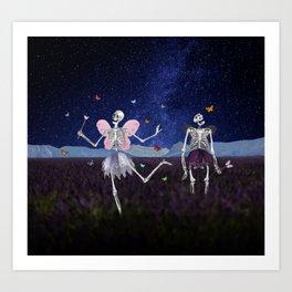 Death Fairy and her helper Art Print