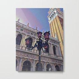 Campanile on the Piazza San Marco Metal Print