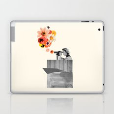 in bloom (black & white) Laptop & iPad Skin