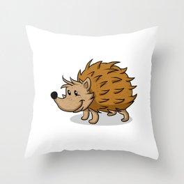 Hedgehog cartoon. Throw Pillow