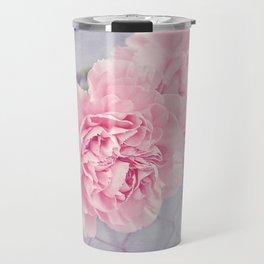 Pale Pink Carnations Travel Mug