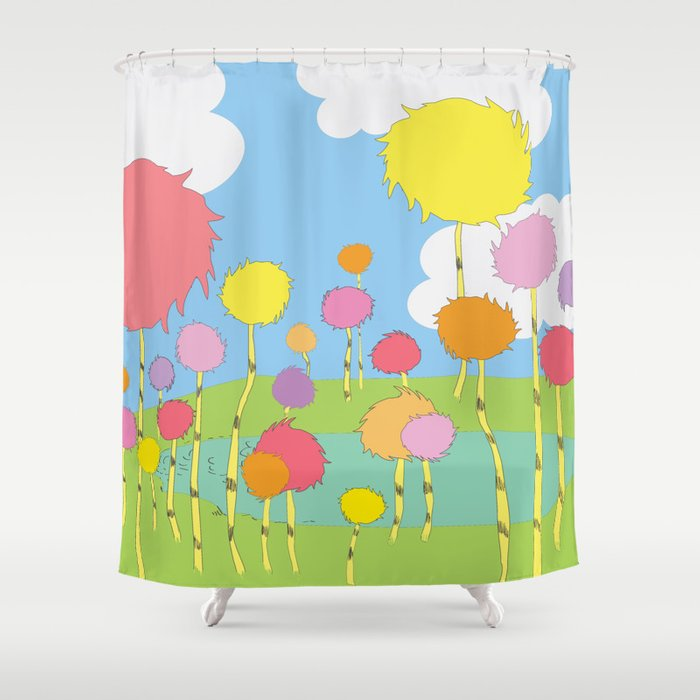 truffula trees.. the lorax Shower Curtain by ...