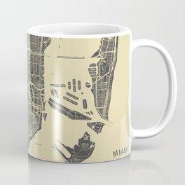 Miami Map yellow Coffee Mug