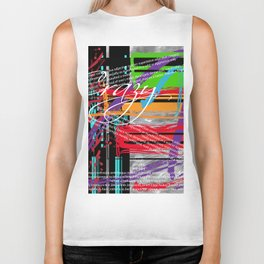 Crazy Cool Abstract Biker Tank