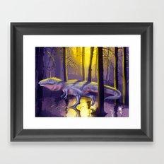 Giganotosaurus dinosaur Framed Art Print